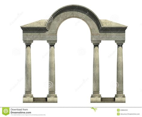 Entrance Columns Entrance With Arch And Columns Stock Photos Image 22884343