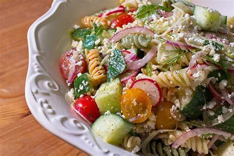 Summer Kitchen Salads summer pasta salad with lemon honey vinaigrette eat up