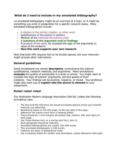 annotated bibliography mla template annotated bibliography template mla websitein10