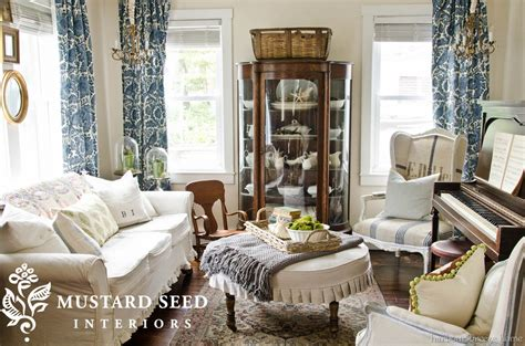 Miss Mustard Seed Dining Room by Stenciled Dining Room Curtains Harbour Home