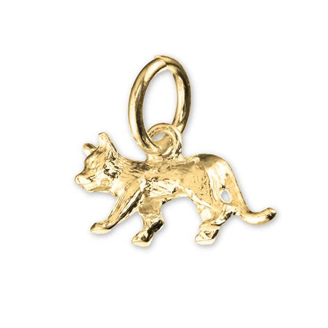 lucky black cat gold charm charms direct
