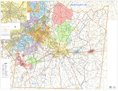 zip code map union county nc union county map