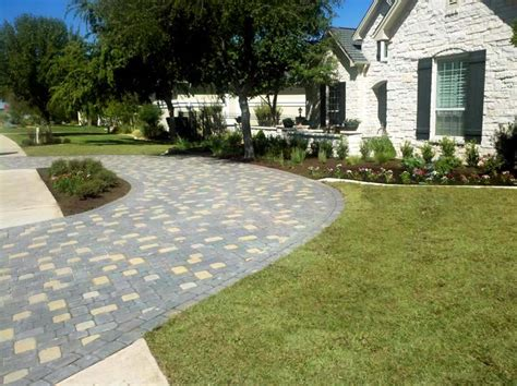 concrete horseshoe driveways driveway tx photo gallery landscaping network