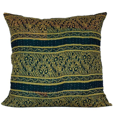 Vintage Kantha Pillows by 16 Quot Vintage Handmade India Kantha Toss Pillow Cover