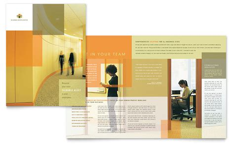 hr consulting template hr consulting brochure template word publisher