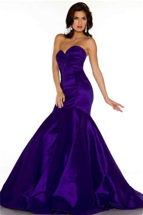 regency color dress trumpet mermaid sweetheart regency purple satin