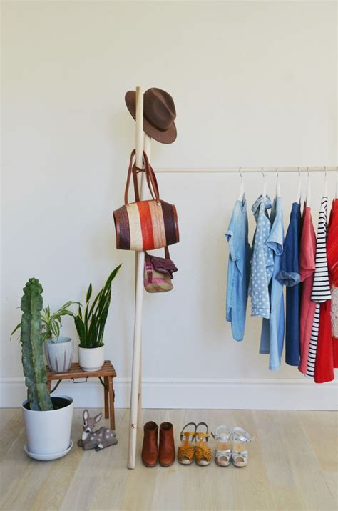 make your own clothing rack abeautifulmess