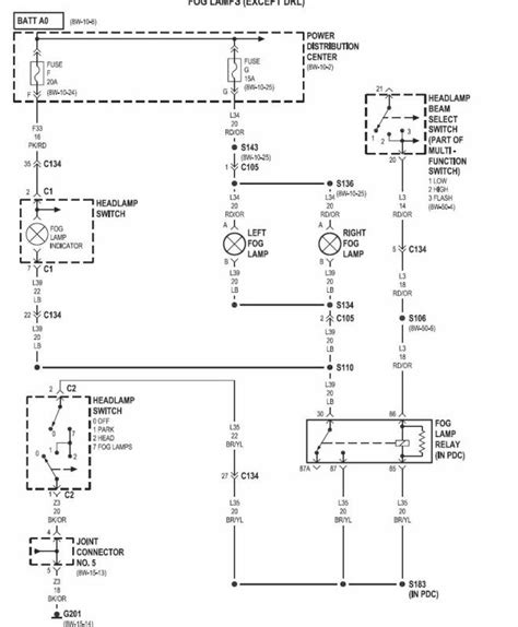 dodge ram headlight switch wiring diagram dodge wiring