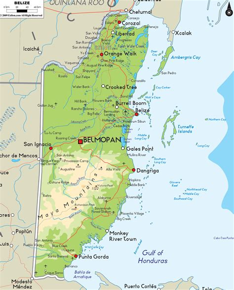 tourist map of belize belize tourism mapa