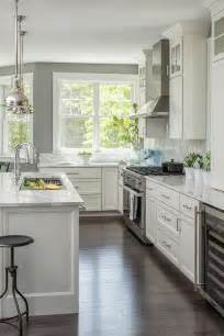 gray and white kitchen designs gray kitchen with backless wood and iron stools