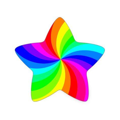 Rainbow White Syar I spinning rainbow sticker zazzle
