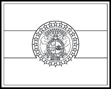 State Flag Coloring Pages Missouri State Flag Coloring Page