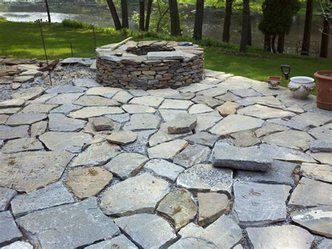 stone backyard patio heave and hoe stone patio and rediscovered well
