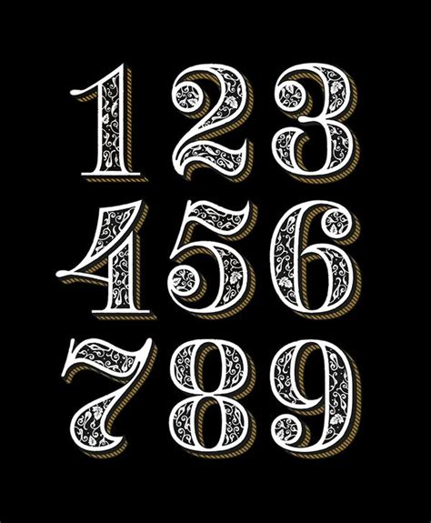 25 Best Ideas About Number Typography On Number Fonts Chalkboard Fonts And