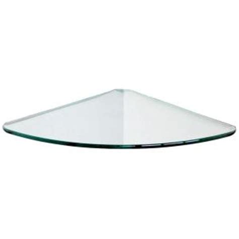 Bathroom Corner Glass Shelves Floating Glass Shelves 1 4 In Curve Glass Corner Shelf Price Varies By Size Cl10 The Home Depot