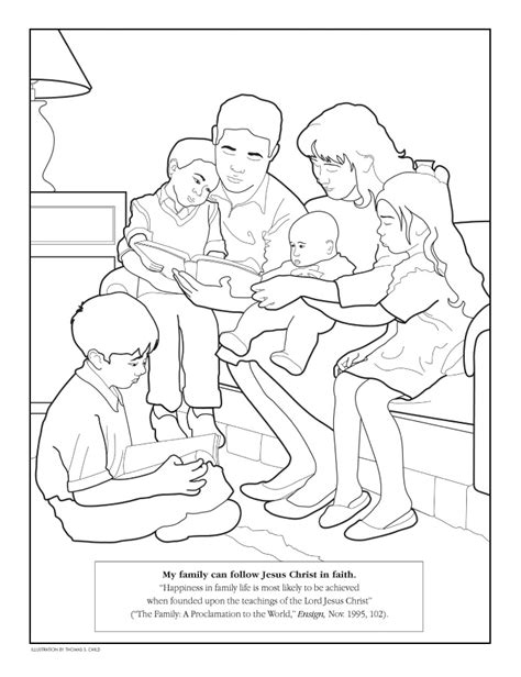 loving family coloring page family coloring page lds lesson ideas