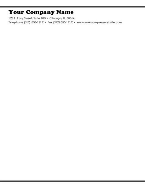 Business Letterhead Format In Word Free Free Business Letterhead Templates For Word