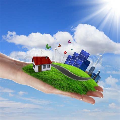 Safe Energy ecology and safe energy stock photo colourbox