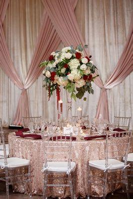 elegant fall wedding  burgundy gold color palette
