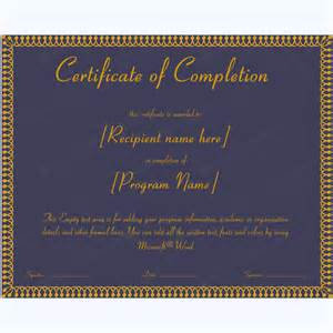 free certificate of completion templates for word 89 award certificates for business and school events