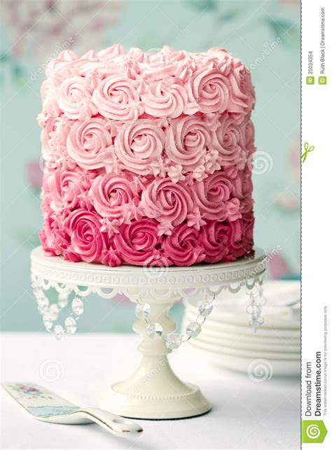 pink ombre cake stock images image 25034354