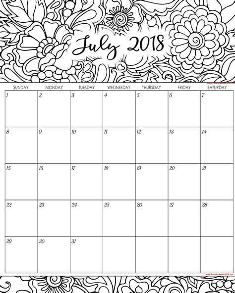 july calendar template 60 free july 2018 calendar printable blank templates