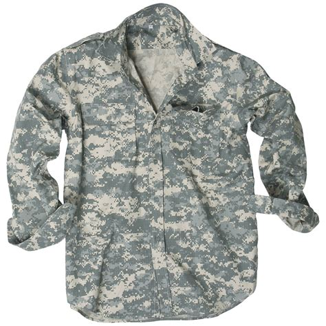 Acu Camo by Mil Tec Mens Sleeve Shirt Army Airsoft