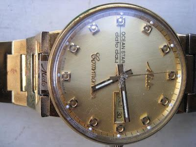 Jam Tangan Klasik Emas toko antiek retro vintage classic jam tangan emas original automatic mido commander