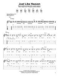Just Like Heaven By Robert Smith - Digital Sheet Music For