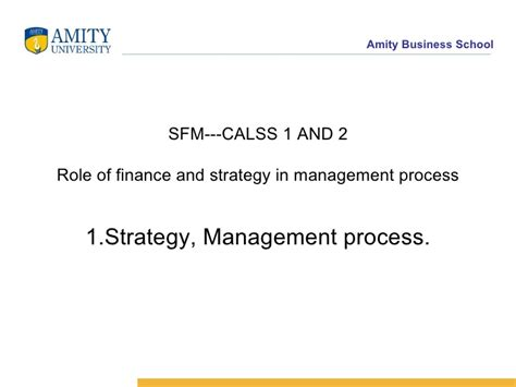 Strategic Financial Management Notes For Mba by 12fe2 Sfm Class 1 2