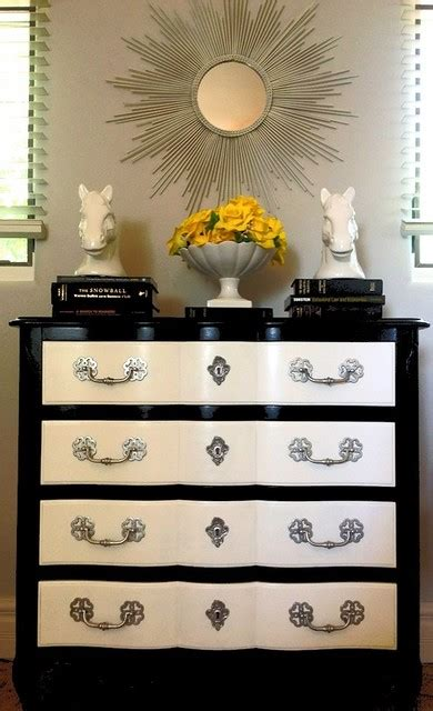 Black And White Dresser Black And White Painted Dresser With Silver Hardware Contemporary Bedroom San Diego By