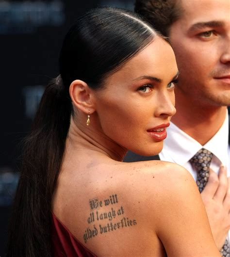 megan fox ends tattoo addiction megan fox addiction