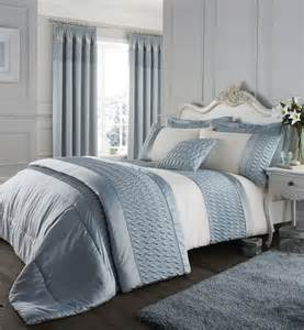 Bed Set With Curtains Duck Egg Catherine Lansfield Bedding Bed Set Curtains Quilt Cover Or Bedspread Ebay