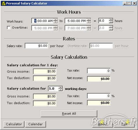 wages calculator hourly to salary calc