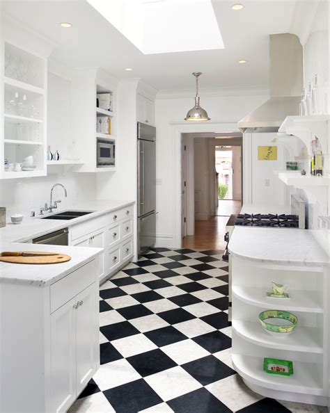 modern checkerboard tile floor kitchen flooring options kitchen traditional with