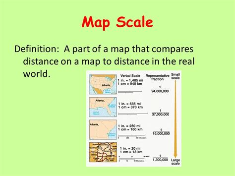what is a map scale definition of map scale kelloggrealtyinc