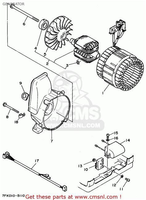yamaha ef fl generator generator schematic partsfiche