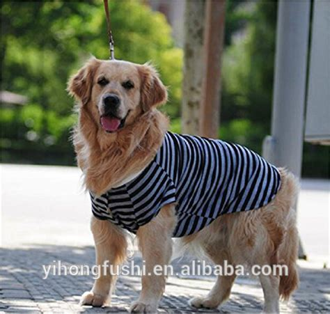 clothes for golden retrievers wholesale cotton striped summer big pets clothes golden retriever