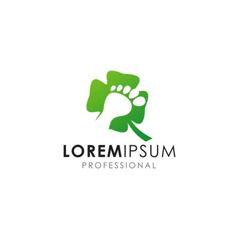 logo green leaf foot care telecharger des vecteurs premium