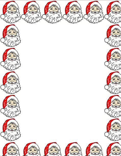 free printable santa letter borders dear santa letter template free printable new calendar