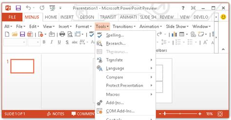 Show Classic Menus And Toolbars On Ribbon Of Powerpoint 2010 2013 And 2016 Design Powerpoint 2013