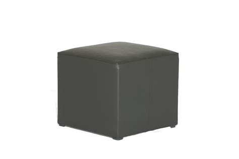 White Leather Cube Stool by Black Leather Cube Seat Fresh Event Hire