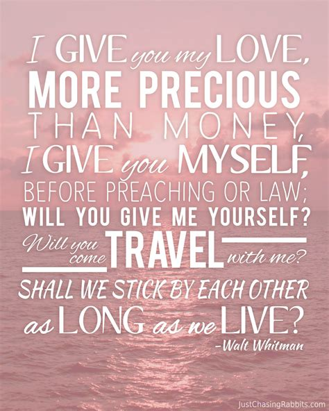 printable love quotes and sayings love and travel walt whitman quote printable wall art for