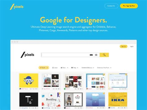 Design Imagery Search Engines Image Search Engine Search Engine Website Template