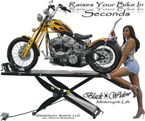 black widow air motorcycle lift table hoist drop panel wheel chock bw 1000a r ebay