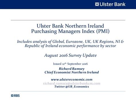 ulster bank anytime banking uk ulster bank northern ireland pmi slide pack august 2016