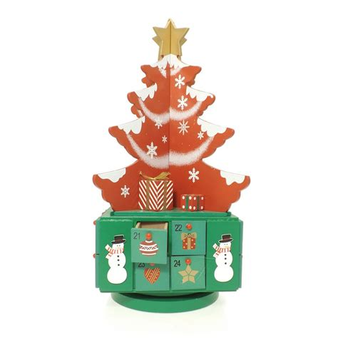 buy wooden tree advent calendar