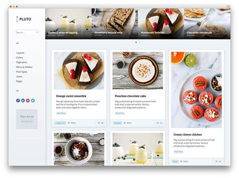 masonry layout pinterest like grid download 20 awesome food wordpress themes to share recipes 2017