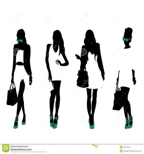 fashion silhouettes royalty free stock photos image