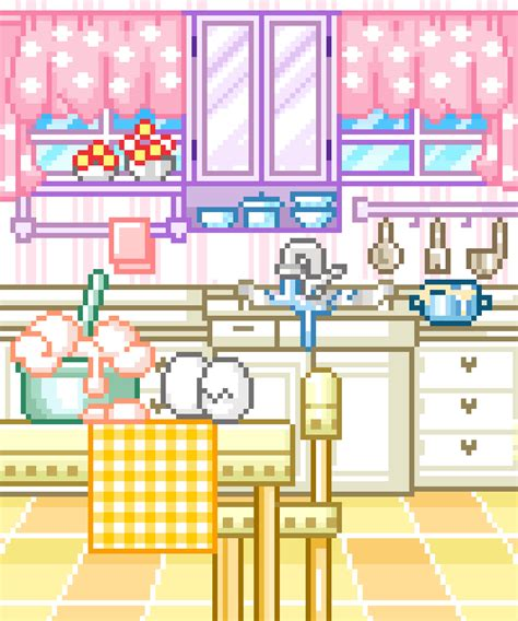 Pixel Kitchen by Pixel Gifs Find On Giphy